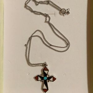Santa Fe Style Cross Necklace